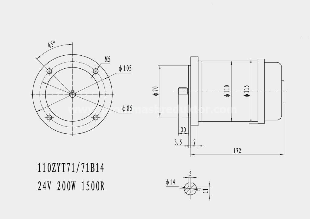 Коллекторный электродвигатель 110ZYT71/71B14