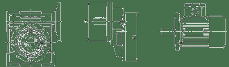 Червячные редукторы SMW с цилиндрическим модулем SMPC