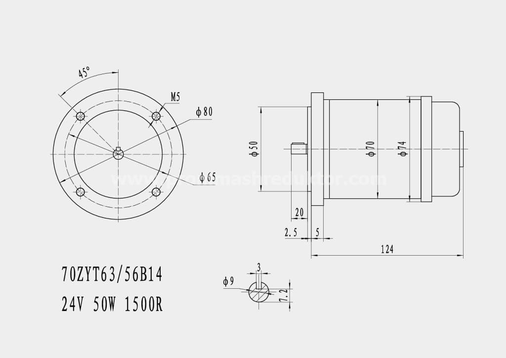 Коллекторный электродвигатель 70ZYT63/56B14