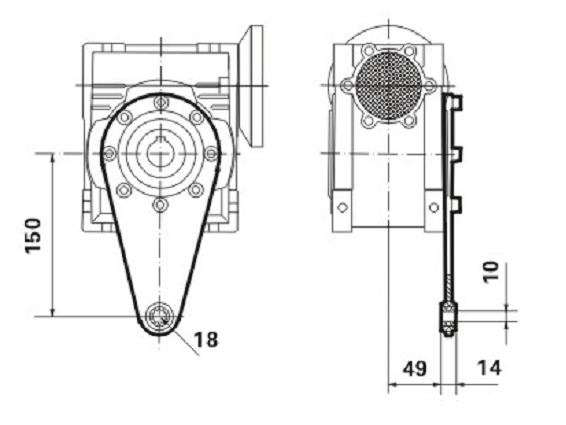 Реактивная штанга к редуктору SMW 063