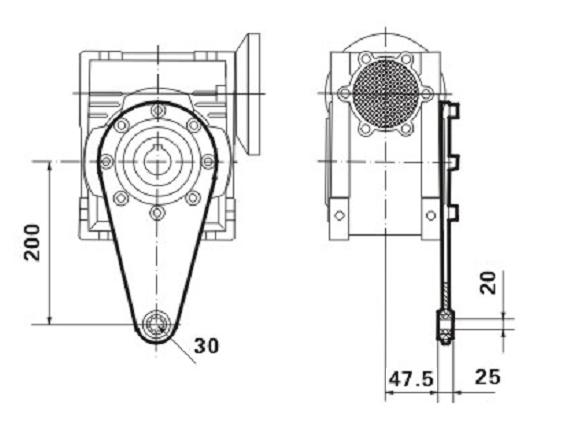 Реактивная штанга к редуктору SMW 075