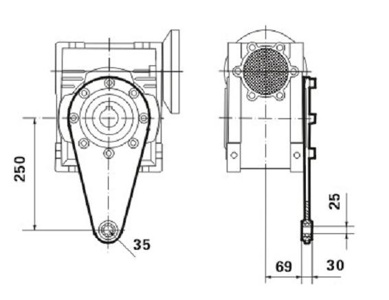 Реактивная штанга к редуктору SMW 130