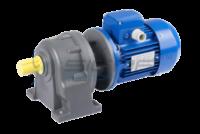 Цилиндрический соосные мотор-редукторы могут быть укомплектованы трёхфазным асинхронным электродвигателем